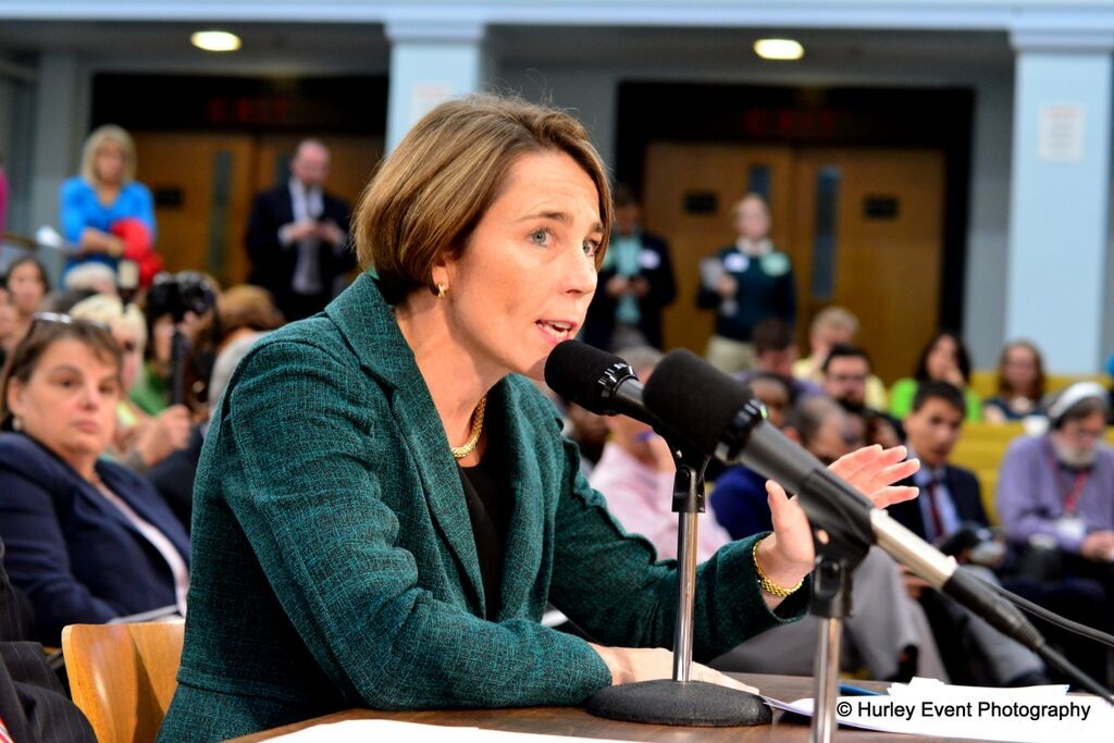 Attorney General Maura Healey testifies in support of extending non-discrimination protections in public accommodations to transgender Bay Staters.
